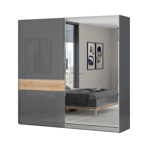 Drsna omara z ogledalom ONYX PK180-OG/ON