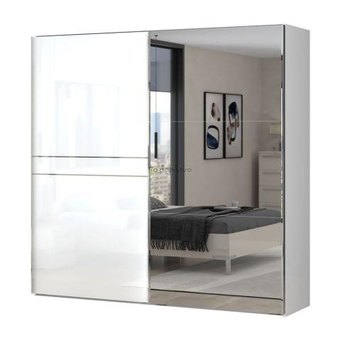 Drsna omara z ogledalom PIANO PK230-OG/PN