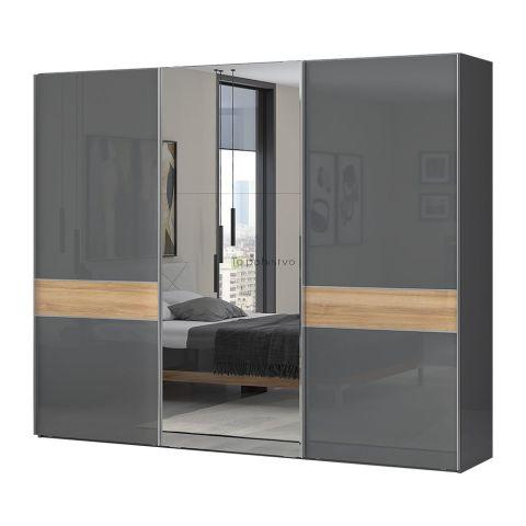 Drsna omara z ogledalom ONYX PK280-OG/ON